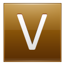 Letter V Gold Emoticon