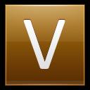 Letter V Gold Emoticon