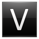 Letter V Black Emoticon