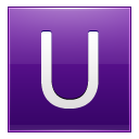 Letter U Violet Emoticon