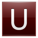 Letter U Red Emoticon