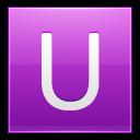 Letter U Pink Emoticon