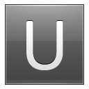 Letter U Grey Emoticon