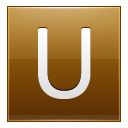 Letter U Gold Emoticon