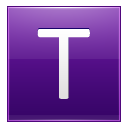 Letter T Violet Emoticon