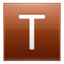 Letter T Orange Emoticon
