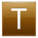 Letter T Gold Emoticon