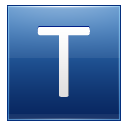 Letter T Blue Emoticon
