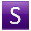 Letter S Violet Emoticon