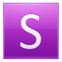 Letter S Pink Emoticon