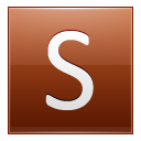 Letter S Orange Emoticon