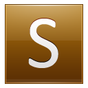 Letter S Gold Emoticon