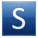 Letter S Blue Emoticon