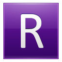 Letter R Violet Emoticon