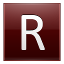 Letter R Red Emoticon