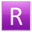 Letter R Pink Emoticon