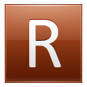 Letter R Orange Emoticon