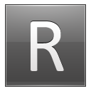 Letter R Grey Emoticon