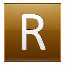 Letter R Gold Emoticon