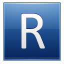 Letter R Blue Emoticon
