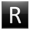 Letter R Black Emoticon