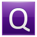 Letter Q Violet Emoticon