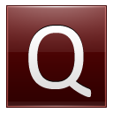 Letter Q Red Emoticon