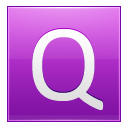 Letter Q Pink Emoticon