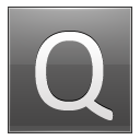 Letter Q Grey Emoticon