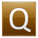Letter Q Gold Emoticon