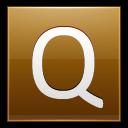 Letter Q Gold Emoticon