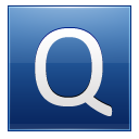Letter Q Blue Emoticon
