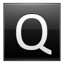 Letter Q Black Emoticon