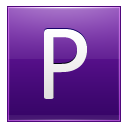 Letter P Violet Emoticon