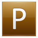 Letter P Gold Emoticon