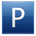 Letter P Blue Emoticon