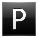 Letter P Black Emoticon