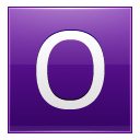 Letter O Violet Emoticon