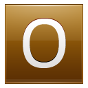 Letter O Gold Emoticon