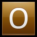 Letter O Gold Emoticon