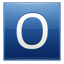Letter O Blue Emoticon