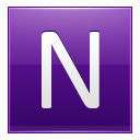 Letter N Violet Emoticon