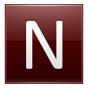 Letter N Red Emoticon
