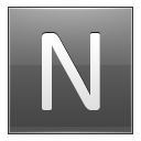 Letter N Grey Emoticon