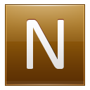Letter N Gold Emoticon
