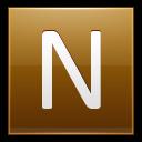 Letter N Gold Emoticon