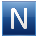 Letter N Blue Emoticon