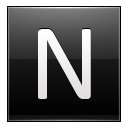 Letter N Black Emoticon