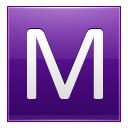 Letter M Violet Emoticon