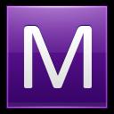 Letter M Violet Emoticon